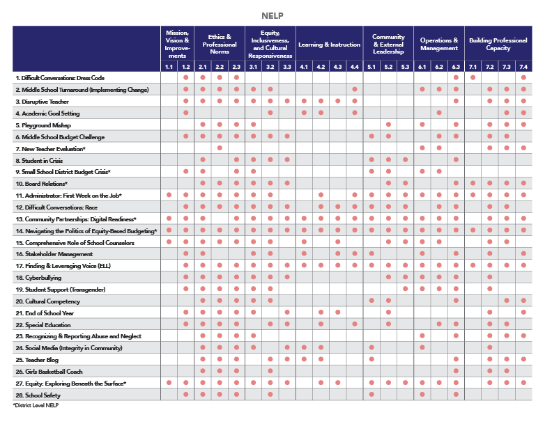 NELP Standards SchoolSims